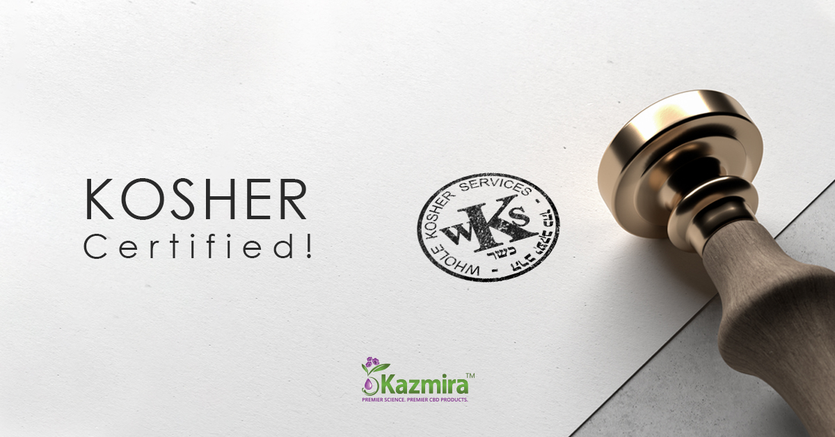 Imperial™  is now Kosher Certified! - Kazmira LLC - The Cannabinoid Company